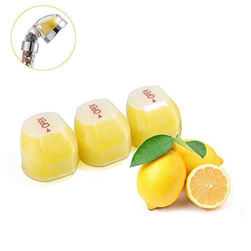 OurLeeme ionische douchekop, verhoogt de druk tijdens het opslaan van water citroen vitamine C Filter Set Handheld douchekop (Filter) Filteren