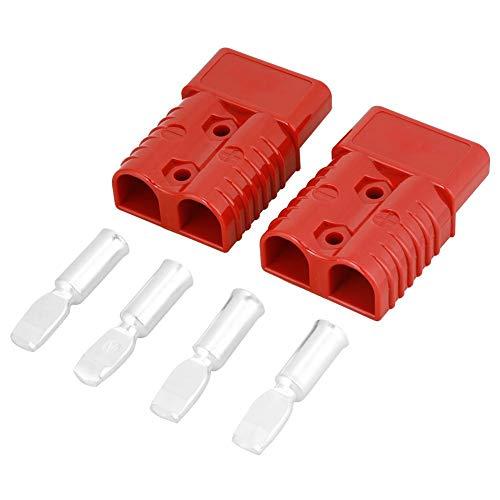 Batería De Conexión Rápida, 2 Piezas 175A 600 V Rojo Plástico Cobre Batería Conexión De Conexión Rápida Cabrestante Conector De Conexión Con 4 Accesorios, Alta Tensión Y Alta Tensión