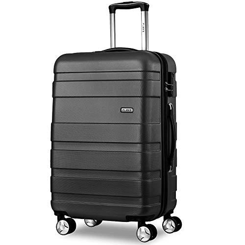 jeerbly Maleta de viaje de 4 ruedas de cáscara dura ligera maleta de equipaje Set Holdall Cabin Case (24