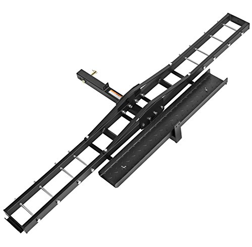 Direct Aftermarket Steel Motorcycle Carrier 500 LB Scooter Dirt Bike Hauler Hitch Mount Rack Ramp Anti Tilt Anti Wobble