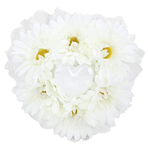SXXYTCWL Cojín de Anillo en Forma de corazón portátil Blanco, Almohada de Anillo de Novia, Moda romántica for Sala de Estar decoración for el hogar Boda (Blanco) jianyou (Color : White)