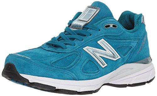 New Balance Women's 990v4 Sneaker, Lake Blue/Lake Blue, 9.5 UK