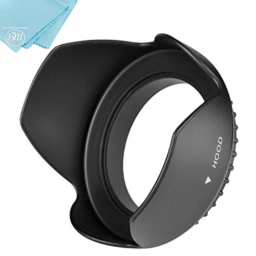 40.5mm Tulip Flower Lens Hood for Sony Alpha A5000, A5100, A6000, A6300, A6400, A6500, NEX-5TL, NEX-6 Digital Camera That has Sony 16-50mm f/3.5-5.6 OSS Alpha E-Mount Retractable Zoom Lens