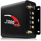 Aileap Potente Amplificador estéreo Bluetooth Multimedia de 1000 W y 4 Canales con Radio AUX USB SD FM, AMP de Repuesto del Sistema de Audio de Motocicleta de la Serie M1000 para Harley ATV UTV RZR