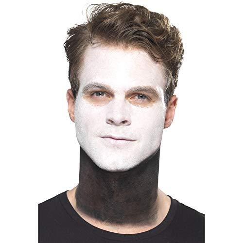Smiffys Mannen Tag der Toten Senor Bones Make-Up Set, gezicht kleur, stift, snor en applicatoren, zwart en wit, 44926