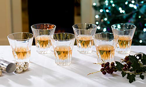 Juego de seis vasos de cristal de la colección Fluente de RCR para whisky. Modelo: 25281020006