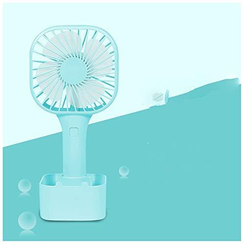 Piccolo ventilatore Portatile Mini Usb Ventilatore ricaricabile Studente Dormitorio Palmare Vento silenzioso Ventilatore da tavolo (Color : Blue)