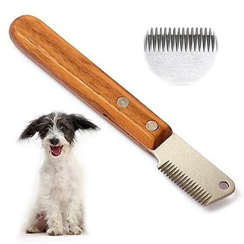 Professional Trimmmesser,Trimmen hund terrier,Trimm Messer Pflegemesser für Unterwolle Ergonomisch Geformtem Griff