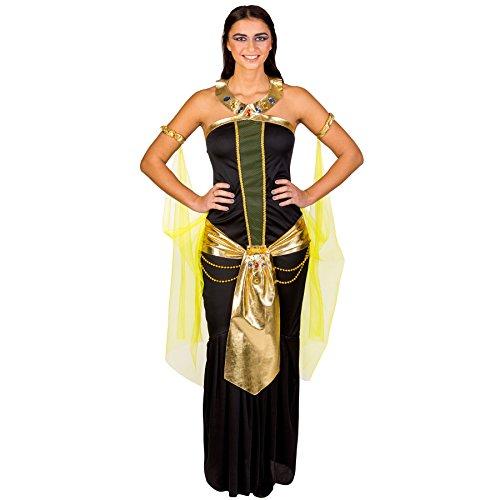 dressforfun Costume da donna - Potente regina egizia Nefertiti | Sensazionale abito con cintura | Maniche in tulle (S | no. 300266)