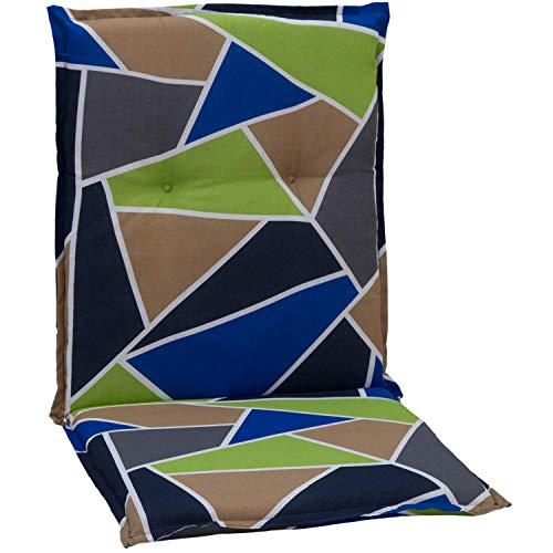 beo Chaises Coussin avec Bordure pour Fauteuil à Dossier Bas Design Graphique Multicolore Env. 98 x 48 x 6 cm