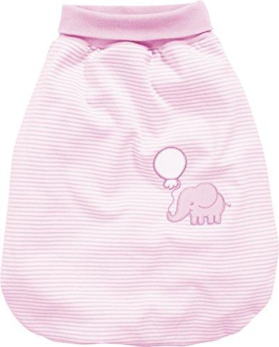 Schnizler Baby Schlafsack, Strampelsack Elefant mit elastischem Umschlagbund, Gr. One Size, Rosa (Rosa 14)
