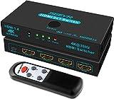 Switch HDMI SGEYR interruttore hdmi 3 in 1out con telecomando a infrarossiscatola Commutatore HDMI 1.4 HDCP 1.4 supporto 4K @ 30Hz Ultra HD 3D 2160P 1080P