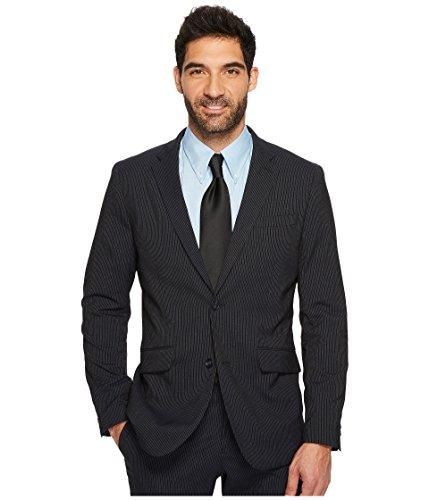 Perry Ellis Mens Slim-Fit Pinstripe Suit Jacket Navy, 46R