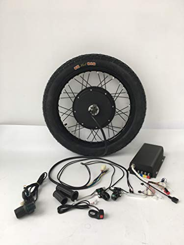 Bluetooth Adapter, QS 3000W Electric Bike Conversion Kit, 72V 100A Savoton Sine Wave Programmable Controller, 3000W Brushless gearless Motor, 3000W Electric Bike Kit. (18inch Rear)