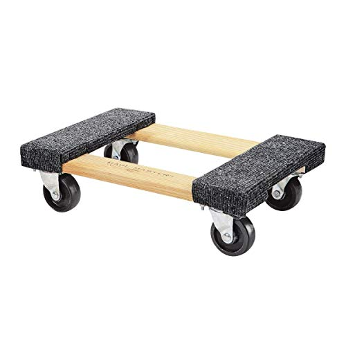 Furniture Dolly Platform With Wheels Moving Dolly Furniture Mover. Piano Dolly Rolling Surface Measures 12' X 18'. Carpeted Furniture Mover. Heavy Duty Floor Dolley Holds Up To 1000lbs