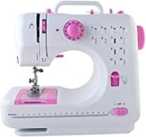 Mini Portable Sewing Machine with Foot Pedal for Kids, Sewing Machine 12 Sewing Handheld with Built-in Sewing Programs...