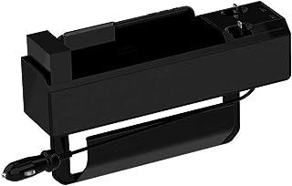 Aufbewahrungsbox für Autositz Autositz Aufbewahrungsbox Sitzlücke Aufbewahrungsbox Universal Auto Seat Gap Organizer Car Seat Side Pocket Aufbewahrungsbox für zwei USB Anschlüsse