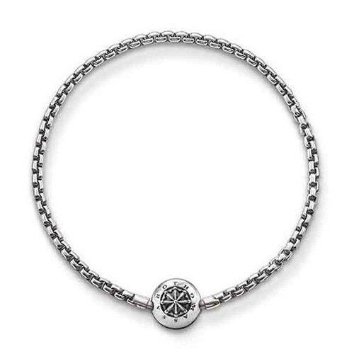 Thomas Sabo Damen Herren-Armband Karma Beads 925 Sterling Silber geschwärzt Länge 20 cm KA0002-001-12-L21