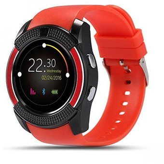 Smartwatch v8/iOS/Android (rot)
