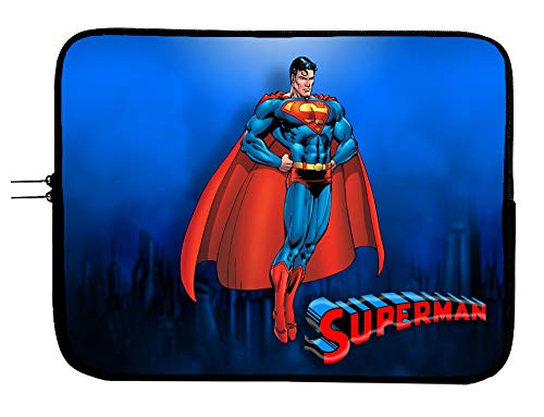 Superman Laptop Sleeve Bag 15 Inch Laptop Case with Mousepad Surface - Protect Your Device in Style Superhero Computer Bag Laptop/Tablet Sleeve Protector