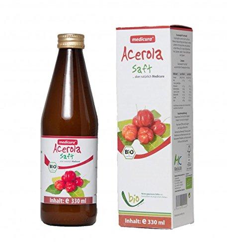 Organic Acerola 100% Juice - 330 ml Glass Bottle