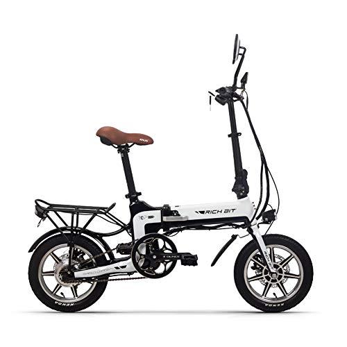 RICH BIT Plegable Scooter eléctrico Compacto 250W 14 Inch City Electric Bike Urban Commute Bike