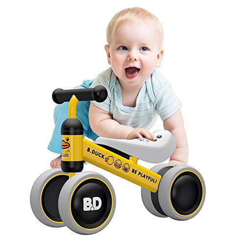 YGJT Baby Balance Bikes Bicycle Baby Walker Toys Rides for 1 Year Boys Girls 10 Months-24 Months Baby's First Bike First Birthday Gift Yellow Duck