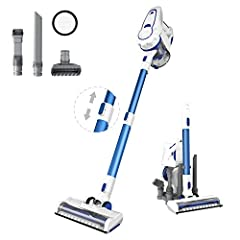 1.[13000pa High Suction] 2200mAh batteries and 160-watt motor provide 13000pa High Suction. 30mins of run time at ECO mode for whole-home cleaning, or 18mins of run time at Max mode for more difficult cleaning areas. Press a button to switch ECO mode...