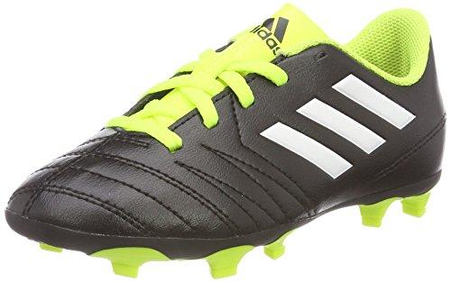 adidas Unisex-Kinder Rasen Copaletto FxG Fußballschuhe, Schwarz (Schwarz/Weiß/Gelb 000), 37 1/3 EU