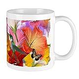 Tazza con farfalle di ibisco, bianca