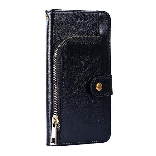 PTTBK Hülle Für Doogee Shoot 1 hülle Flip Brieftaschenreißverschluss Leder + TPU Silikon Fixierh Schutzhülle Hülle