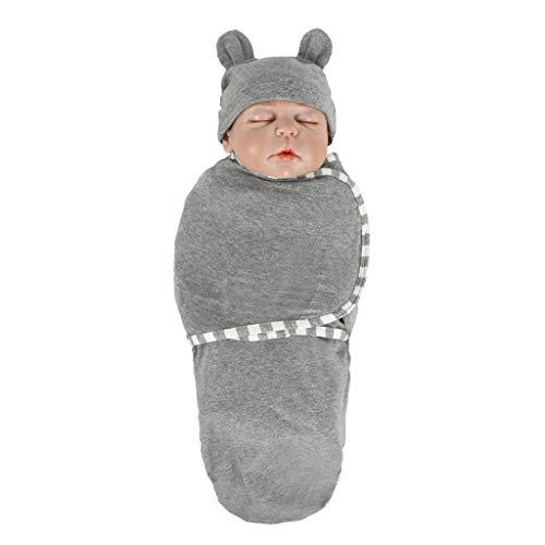 FENSIN kids Baby Schlafsack innen weich gefüttert Pucksack für Neugeborene zu jeder Jahreszeit verwendbar (Grau)