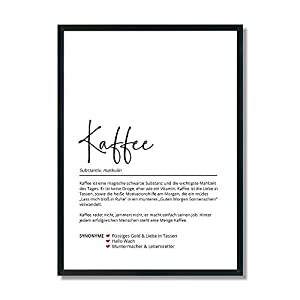 Definition Kaffee   Poster   Geschenk   Küche   Kaffeeliebhaber   Kaffeegenuss   Aroma   Bistro   Theke   Geburtstag…
