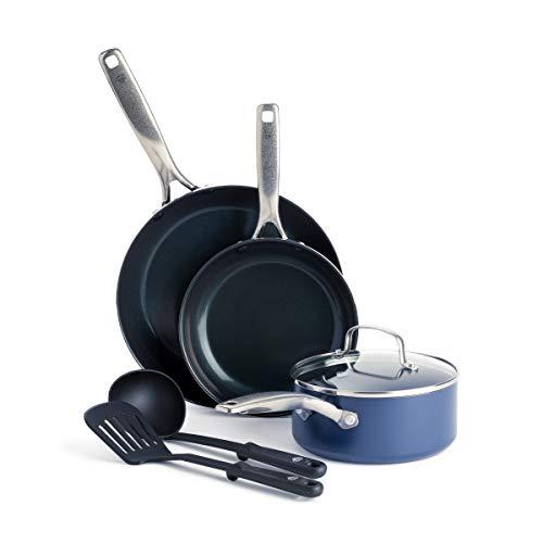 Blue Diamond Cookware Diamond-Infused Ceramic Nonstick, Cookware Pots and Pans Set, 6 Piece