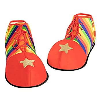 Spooktacular Creations Halloween Jumbo Clown Shoes Unisex Costumes Accessories Props Kits for Halloween Carnival Cosplay Carnivals Fancy Dress Parties Red