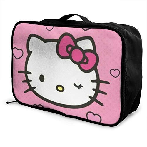 Hello Kitty Travel Lage Duffel Bag Maleta ligera Bolsos portátiles para mujer hombre niños impermeable grande Bapa Caity