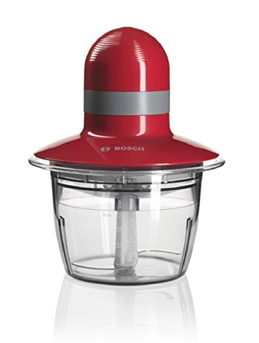 Bosch MMR08R1GB Chopper, 400 W, 0.8 L - Red/Clear