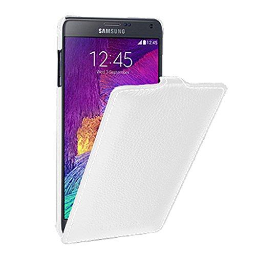 Protector de pantalla para Samsung Galaxy Note 4/SM-N910/piel exterior/interior de tela/embisagradas/UltraSlim/Flip Case,...