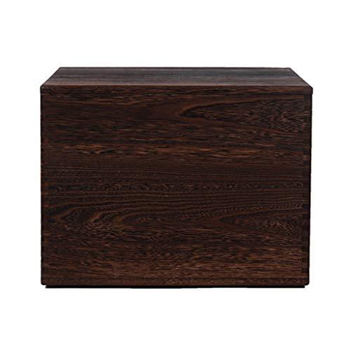 Zsnh Vintage-opbergdozen houten bank Covered Box veranderen schoen bank zitten kruk opslag houten kist opbergdoos
