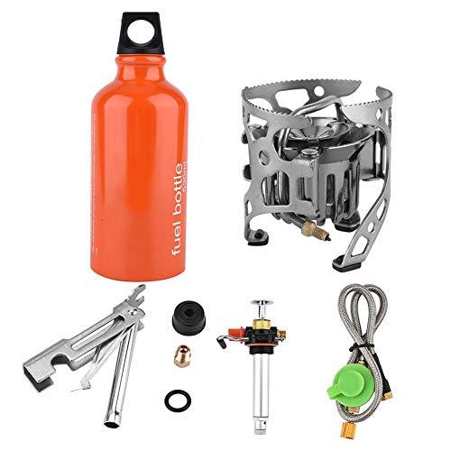 Kraftstoff Campingkocher, Öl Gas Kochherd Lagerfeuer Brennofen Kit für Picknick im Freien beim Wandern von Backpacking Barbecue