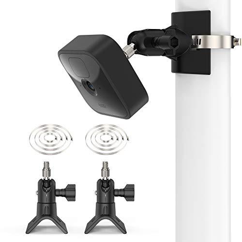 Blink Camera Pole Montagehalterung, Die Neue Blink Outdoor Blink XT2 Wandhalterung von TIUIHU, anwendbarer Rohrdurchmesser Größe 30 mm - 200 mm (1,18-7,87 Zoll) (2 Pack)