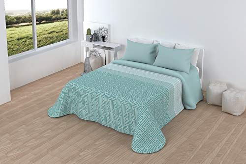 LINIVA HOME Comforter Sherpa 2-teilig Aria (90, 105, 135, 150, 180) (Aqua, Bett 150 cm)