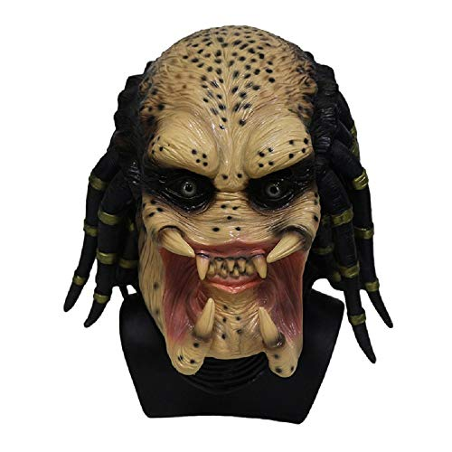Alien Skelett Predator Cosplay Scary Latex Halloween Maske für Erwachsene