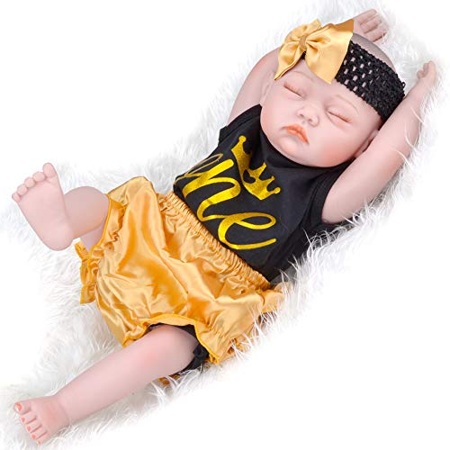 UCanaan Lifelike Realistic Reborn Baby Dolls 20 Inch Weighted Reborn Girl Doll with Accessories Best Birthday Set for Girls Age 3
