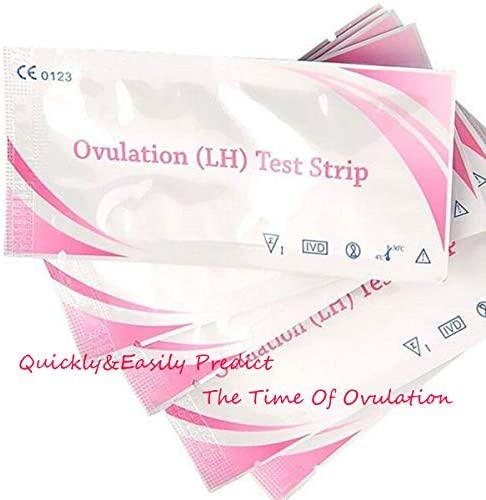 EOPER Ovulation Test Strips, 50 Pieces Private LH Ovulation Test Strips Sticks Fertility Tests Predictor High Sensitivity Result for Women Home Testing