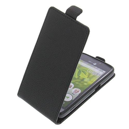 foto-kontor Tasche für Doro 8031 Smartphone Flipstyle Schutz Hülle schwarz
