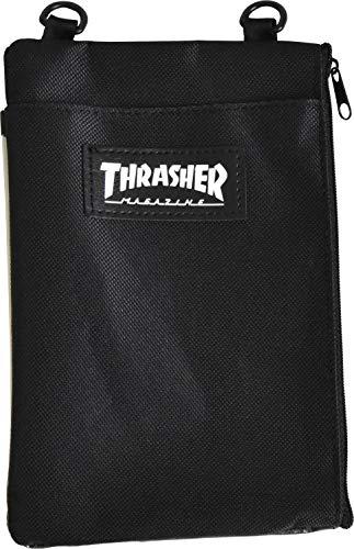 [スラッシャー] THRASHER ロゴ ミニ ショルダー ショルダーバッグ サコッシュ ポーチ ブラック