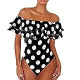NPRADLA Costume da Bagno Donna Vita Alta Due Pezzi Intero Monokini Costume da Bagno Push Up da Bagno Scont Primavera Estate