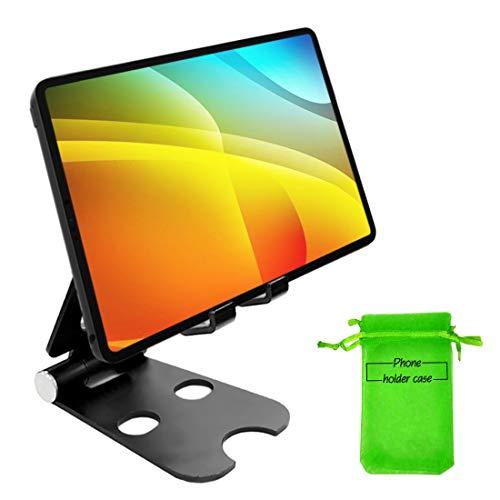 Kadeva Soporte movil Mesa Aluminio Soporte Tablet Mesa Universal Compatible con Todos los Smartphones y Todas Las Tablets pc del Mercado Soporte Mesa movil Tablet sobremesa Escritorio