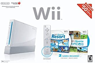 Wii Bundle with Wii Sports & Wii Sports Resort - White